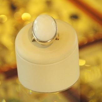 Fasetowany pierścionek z agatu