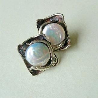 Kolczyki z masą perłową