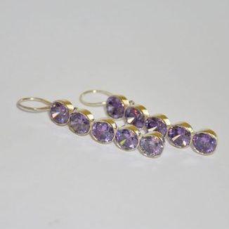 Kolczyki z fioletowym kryształem Swarovskiego