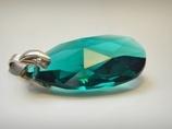 Ciemnozielona zawieszka- kryształ Swarovskiego