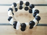 Bransoletka- onyks z masą perłową
